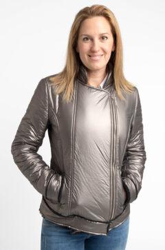 Metál ezüst kabát