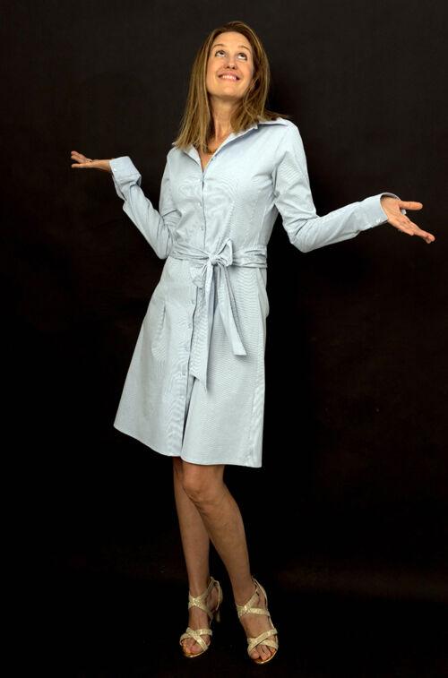Világoskék ingruha - Ruha - Divatos ruhák magas nőknek - Magasnőknek ... c8c322212a