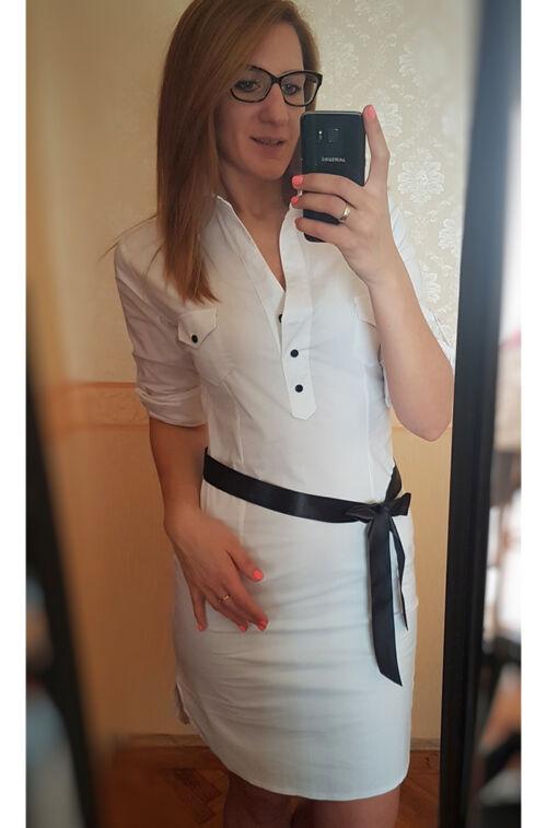Fehér ingruha - Ruha - Divatos ruhák magas nőknek - Magasnőknek.hu ... d99abed1dc