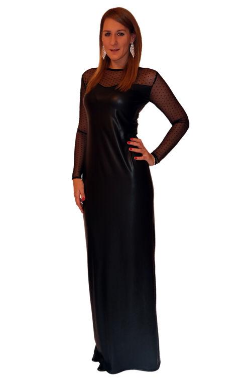 Fekete-necc hosszú ruha - Exkluzív - Divatos ruhák magas nőknek ... b6c374208b