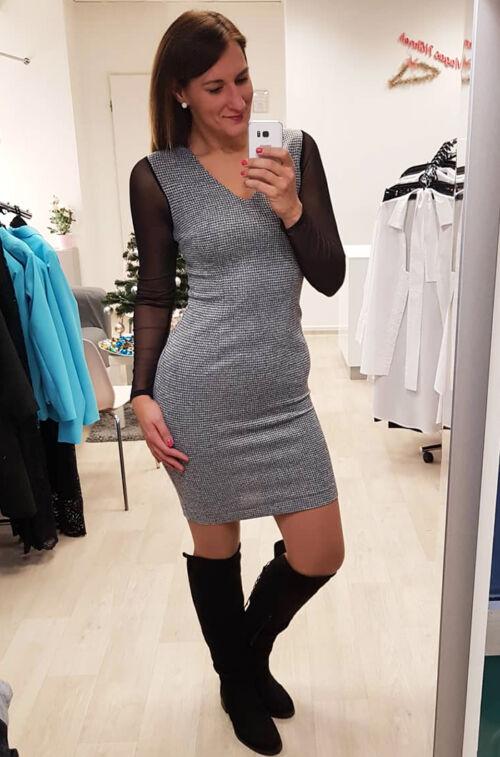 c75f6a4cdd Szürke ruha - Ruha - Divatos ruhák magas nőknek - Magasnőknek.hu ...