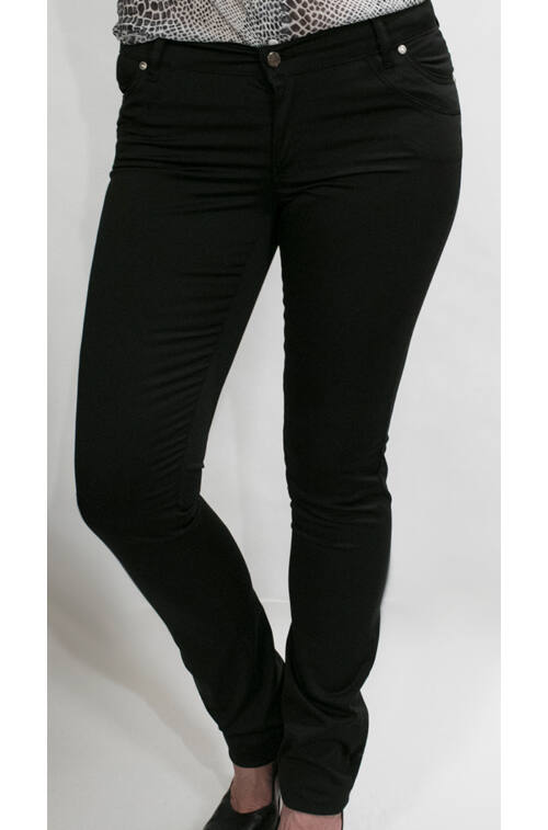 d667001c88 Fényes anyagú fekete nadrág - Elegáns nadrágok - Divatos ruhák magas ...