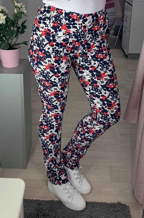 1dcea7fe3a Piros-fehér-kék nadrág - Utcai nadrágok - Divatos ruhák magas nőknek ...
