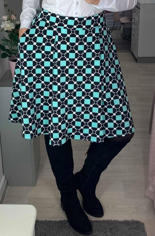 46d8816040 Menta-fekete-fehér rakott szoknya - Szoknya - Divatos ruhák magas ...