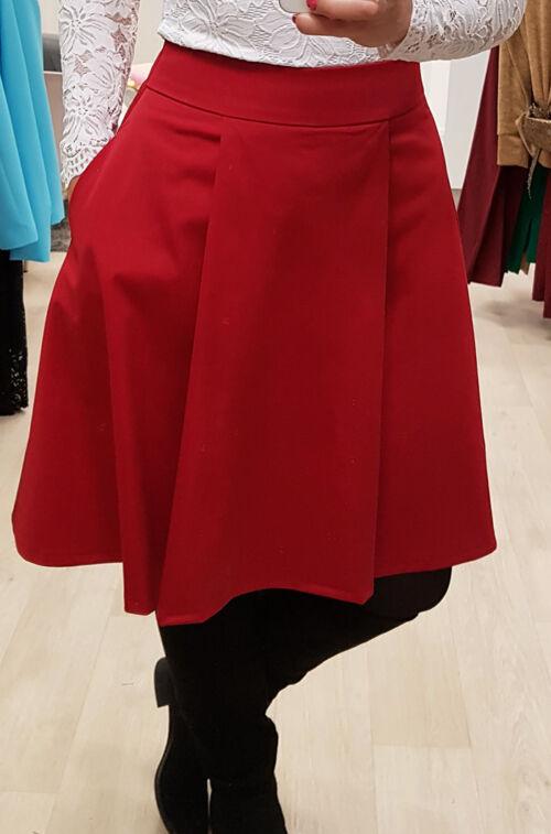58913a1d09 Piros rakott szoknya - Szoknya - Divatos ruhák magas nőknek ...