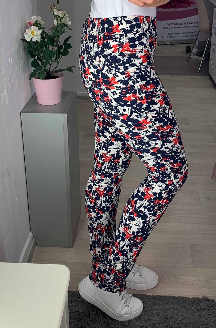 50b4c110fe Piros-fehér-kék nadrág - Utcai nadrágok - Divatos ruhák magas nőknek ...
