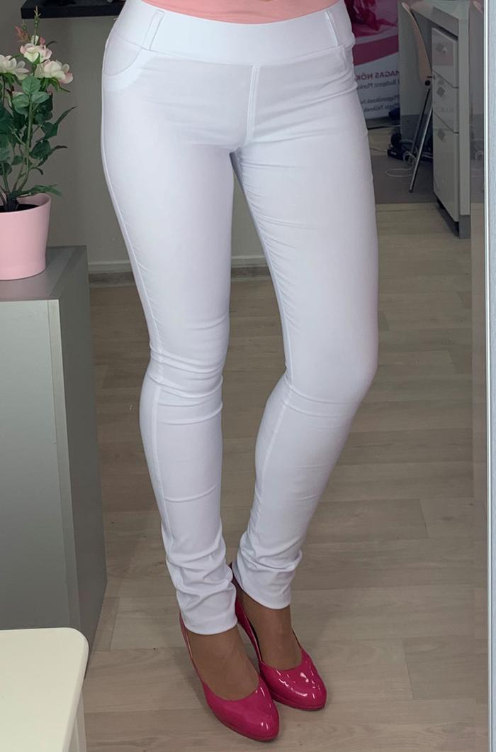 77884c86b4 Fehér gumis derekú nadrág - Utcai nadrágok - Divatos ruhák magas nőknek -  Magasnőknek.hu Webáruház